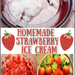 I Dream of Ice Cream! Homemade Strawberry Ice Cream