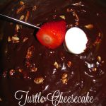 Valentine's Brunch at The Melting Pot~ Turtle Cheesecake Fondue