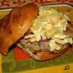 ~Saucy Mama Apricot & Ginger Pork Burgers with Pineapple Slaw~