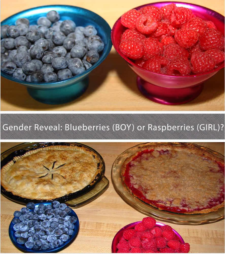 Gender Reveal Party with Blueberry Maple & Raspberry Crumb