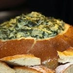 Thanksgiving Bread Bowl Spinach Dip