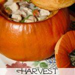 Harvest Chicken Pot Pies in Pumpkin Bowls
