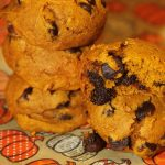 Halloween Pumpkin Chocolate Chip Cake Mix Cookies