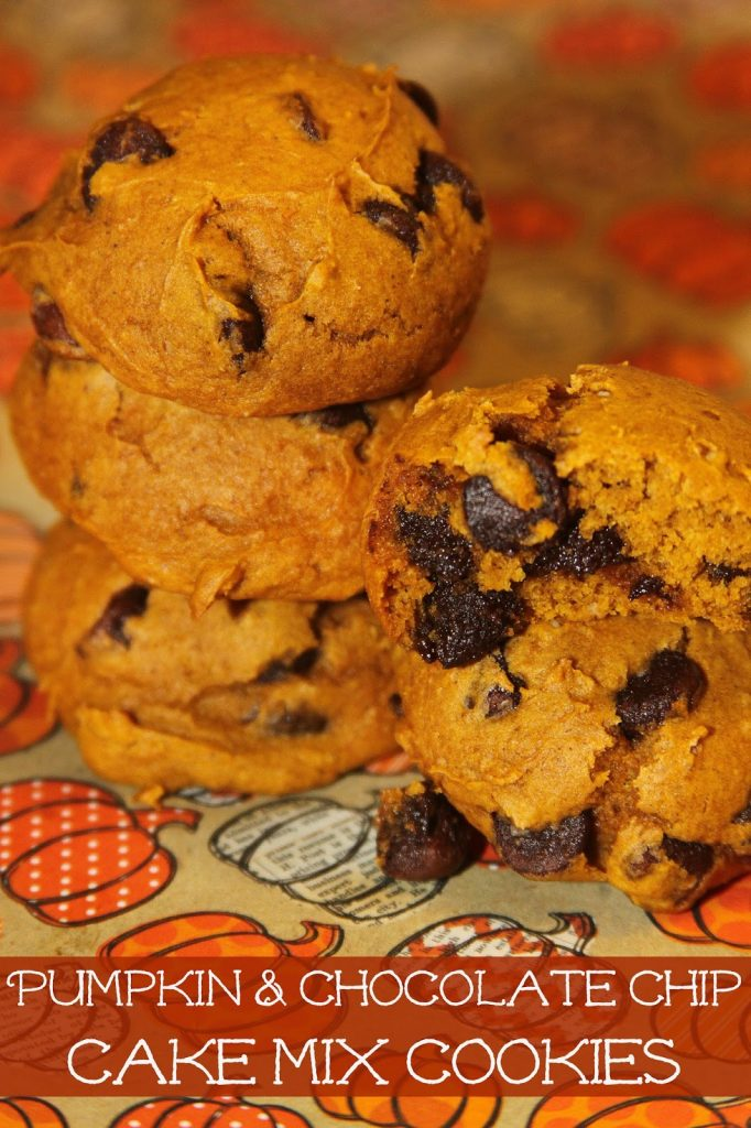 Pumpkin Cake Mix Cookies