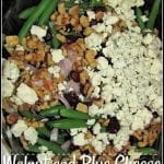 Walnut and Blue Cheese Green Bean Salad