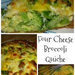 Four Cheese Broccoli Quiche