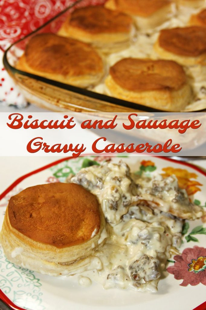 Biscuit and Gravy Casserole
