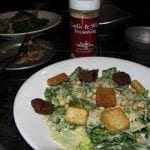 Creamy Caesar Salad with Parmesan Encrusted Pine Nuts