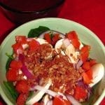 The Melting Pot's Spinach Mushroom Salad with Raspberry Vinaigrette