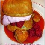 Valentine's Raspberry Heart Shortcakes