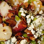 Warm Red Potato Salad with Bacon and Blue Cheese