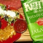 Deconstructed Taco Salads with Jalapeno Kettle Chip Crusted Chicken