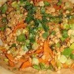 Veggie Thai Peanut Pizzas