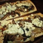Meatless Monday: Portobello, Onion, and Blue Cheese Garlic Butter Flatbread