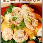Fall Beer Poached Shrimp and Loaded Pumpkin Grits