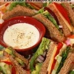 Veggie Club Sandwich with Parmesan Peppercorn Dressing