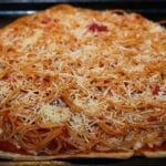 It's a Spaghetti Pizza Pie with Garlic Bread Crust and a Giveaway!