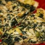 Meatless Monday: Cheesy Spinach Artichoke Pizza