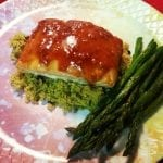 Sriracha Barbecue Salmon with Roasted Asparagus
