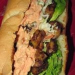 Cajun Shrimp Po-Boys with Sweet Slaw and Spicy Remoulade