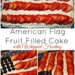 Deployment Homecoming and American Flag Fruit Filled Cake with Whipped Frosting