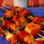 Orange Habanero Grilled Salmon Kabobs and a Saucy Mama Giveaway!