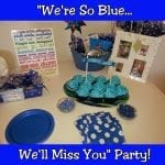 We'll Miss You! Blue Themed Farewell Party for Molly