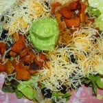Roasted Sweet Potato Taco Salad with Avocado Creme
