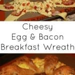 Cheesy Egg and Bacon Breakfast Wreath