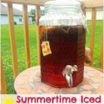 Summertime Iced Raspberry Sun Tea
