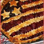 Stars and Stripes Cherry and Blueberry Pie