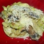 Meatless Monday: Creamy Parmesan Squash and Mushroom Pasta