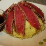 Seared Sesame Crusted Tuna with Wasabi Mashed Potatoes