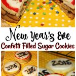 New Year's Eve Confetti Filled Sugar Cookies