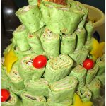 Neiman Marcus Party Dip and Tortilla Roll Up Christmas Tree