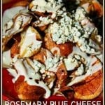 Homemade Rosemary Blue Cheese Potato Chips