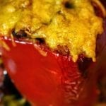 Cheesy Pork Enchilada Stuffed Bell Peppers