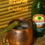 Cajun Storm aka Louisiana Dark and Stormy Ginger Beer Cocktail