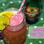 Refreshing Ginger Fruit Fizz Drink