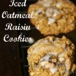 Old Fashioned Iced Oatmeal Raisin Cookies