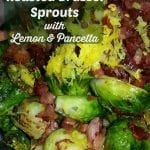 Italian Roasted Brussel Sprouts with Lemon and Pancetta