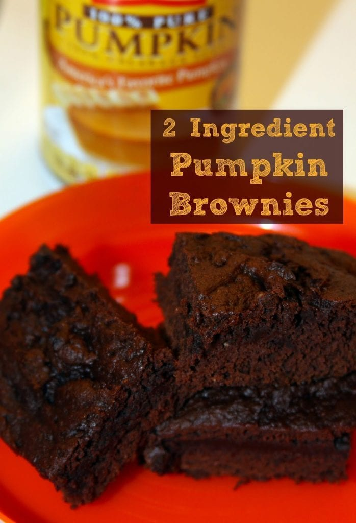 Easy Chocolate Pumpkin Brownies