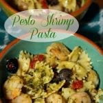 Pesto Shrimp with Bow Tie Pasta