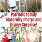 Patriotic Family Maternity Photos and Disney Surprise!