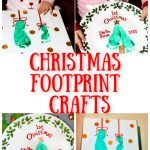 DIY Baby's First Christmas Footprint Plate and Mistletoes Craft