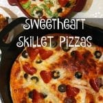 Sweetheart Skillet Pizzas for my Valentine's