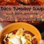 Taco Soup with Homemade Taco Seasoning