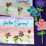 Spring Flowers Fingerprint Craft
