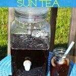 Blackberry Brewed Sun Tea