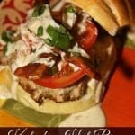 Bourbon Glazed Kentucky Hot Brown Turkey Burgers